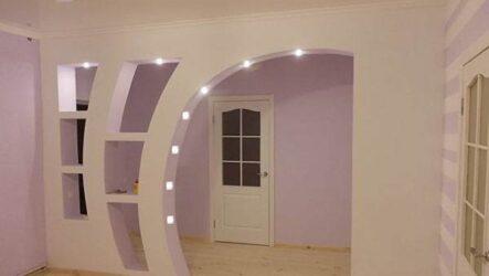 Как сделать арку в дверном проеме из гипсокартона